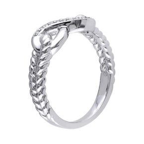 Stella Grace Sterling Silver Diamond Accent Infinity Ring