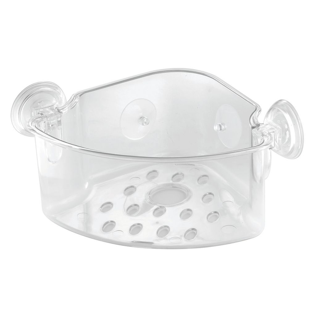 interDesign PowerLock Suction Corner Basket