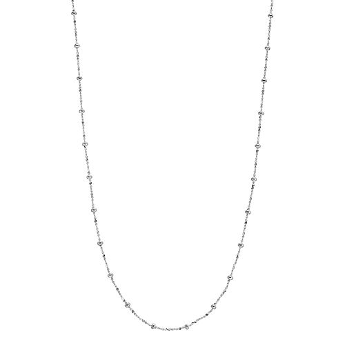 Silver Plated Station Necklace