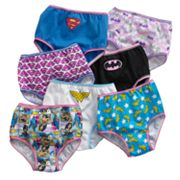 Justice League 7 pkHipster Panties - Girls
