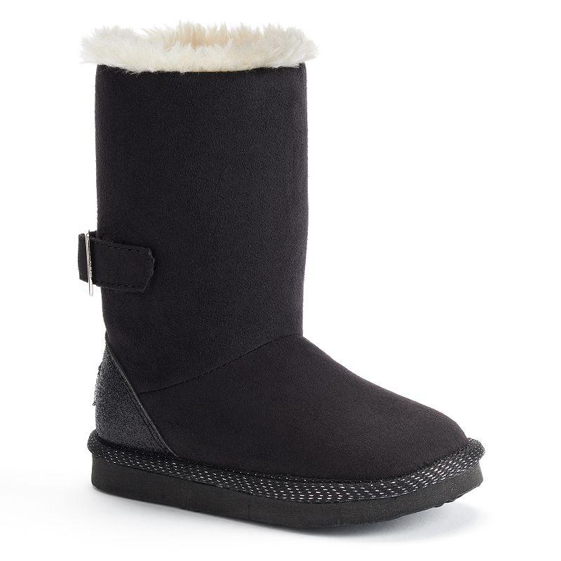 OshKosh B'gosh Black Melody Toddler Girls' Winter Boots