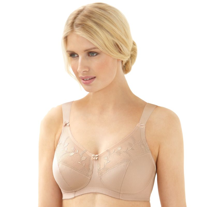 Glamorise Bra: Soft Shoulders Seamless Full-Figure Full-Coverage Wireless Minimizer Bra 9835 - Women's
