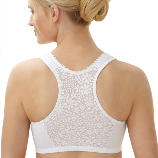 Glamorise Bras: Complete Comfort Full-Figure Front-Closure Racerback Wireless Bra 1908