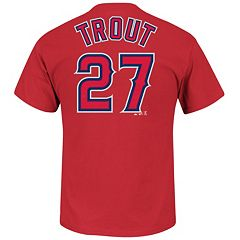 Men's Majestic Los Angeles Angels of Anaheim Mike Trout Tee