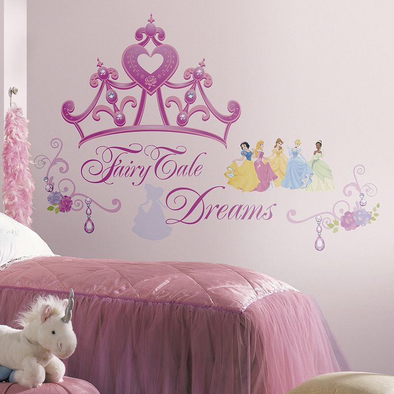 Disney Princess Crown Peel & Stick Wall Stickers, Pink