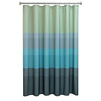 Chevron Beach Striped Fabric Shower Curtain