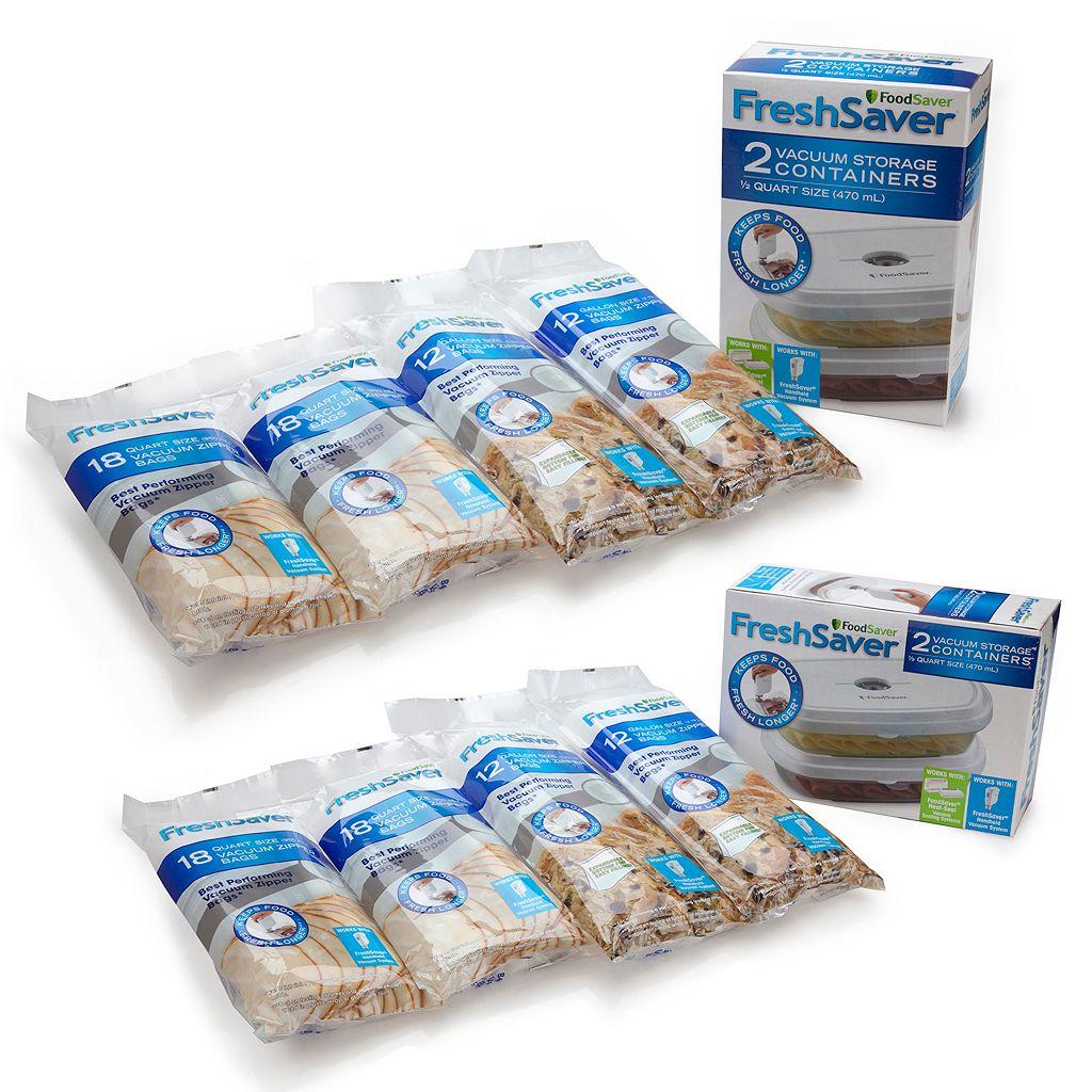 FoodSaver Deli Container & Zipper Heat-Seal Bag Bundle