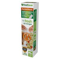 FoodSaver Portion Pouch 11 in Perforated Heat-Seal Rolls - 3pk.