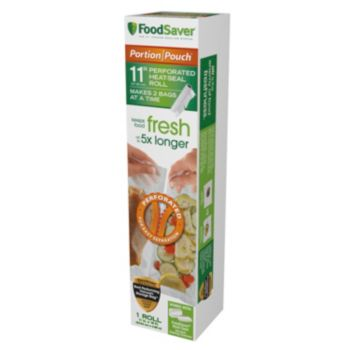 FoodSaver Portion Pouch 11-in. Perforated Heat-Seal Rolls - 3pk.