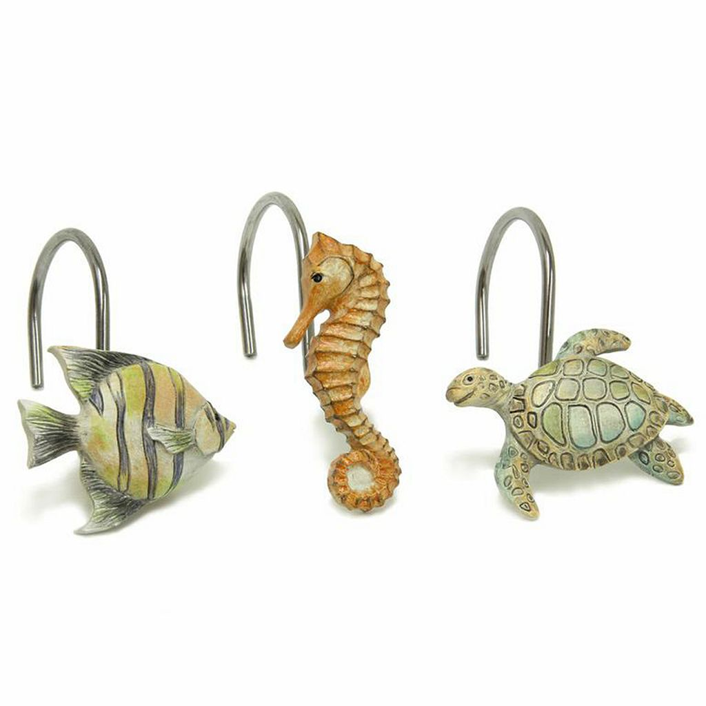 Chevron Beach 12-pk. Shower Curtain Hooks