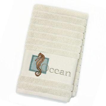 Chevron Beach ''Ocean'' Hand Towel