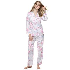 Women's Miss Elaine Essentials Pajamas: Satin Pajama Set
