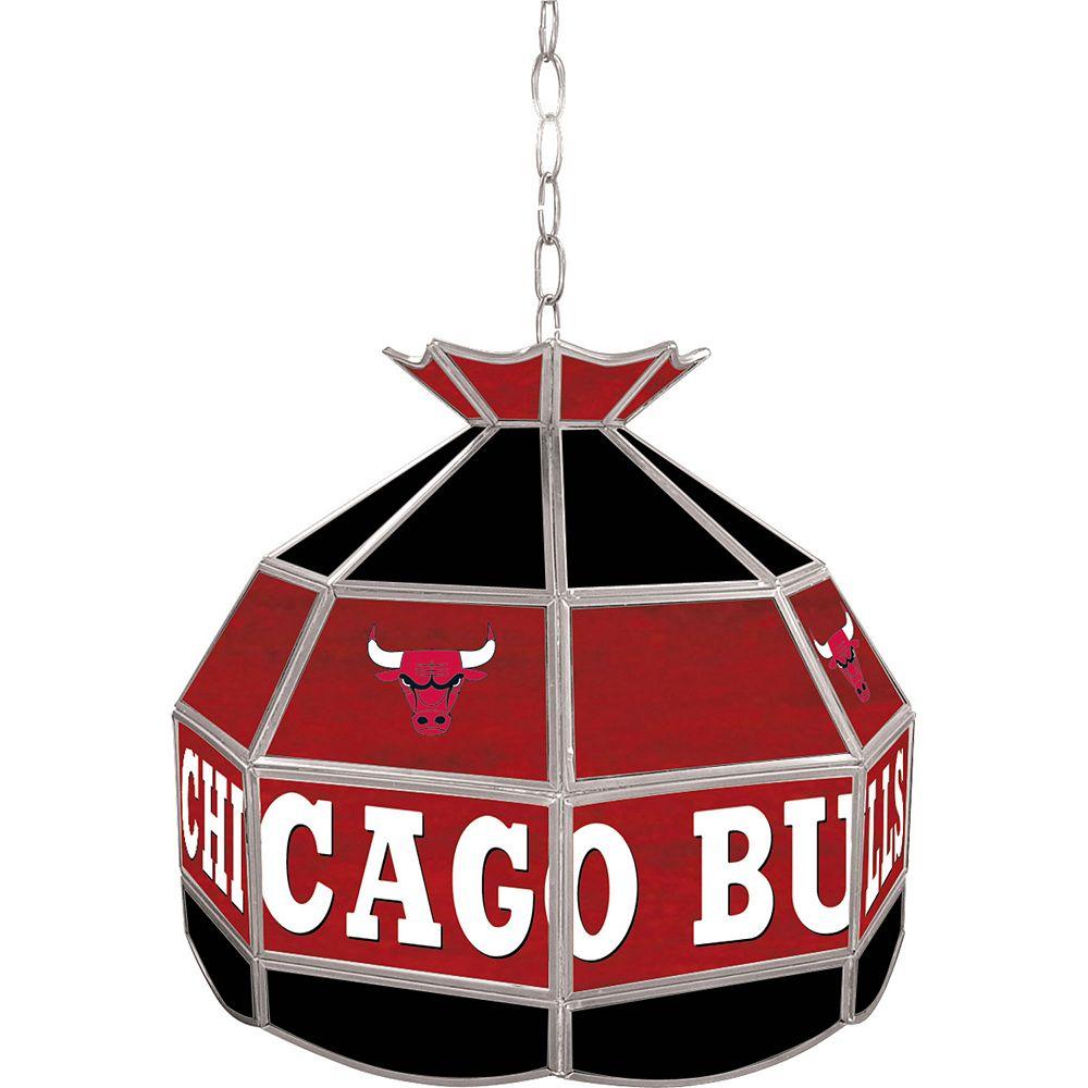 "Chicago Bulls 16"" Tiffany-Style Lamp"