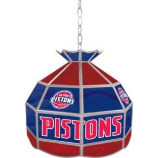 "Detroit Pistons 16"" Tiffany-Style Lamp"