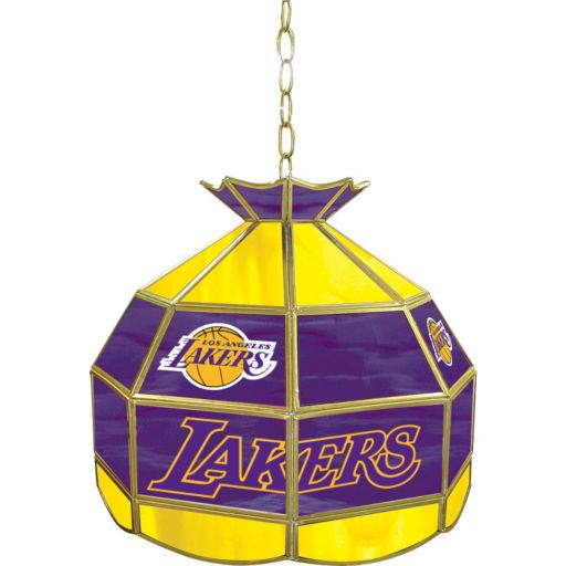 """Los Angeles Lakers 16"""" Tiffany-Style Lamp"""