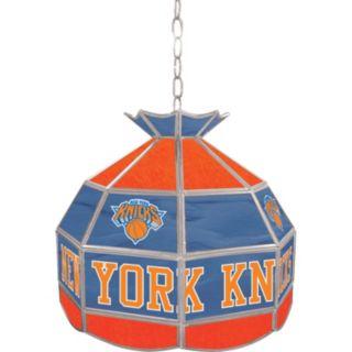 """New York Knicks 16"""" Tiffany-Style Lamp"""