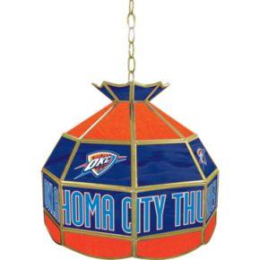 """Oklahoma City Thunder 16"""" Tiffany-Style Lamp"""