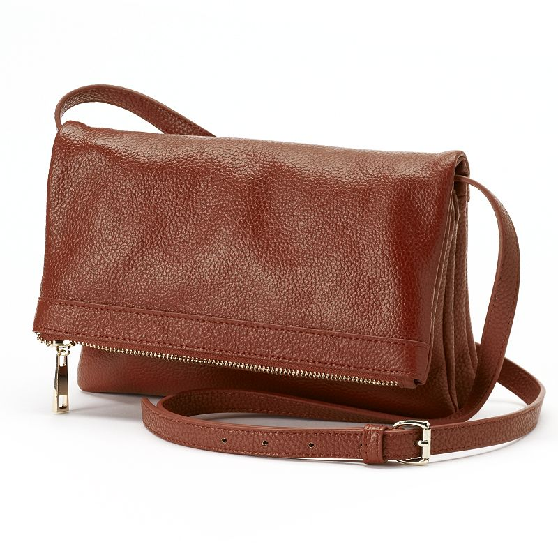 R&R Leather Flap Crossbody Bag