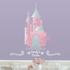 Disney Princess Personalized Castle Peel & Stick Wall Stickers