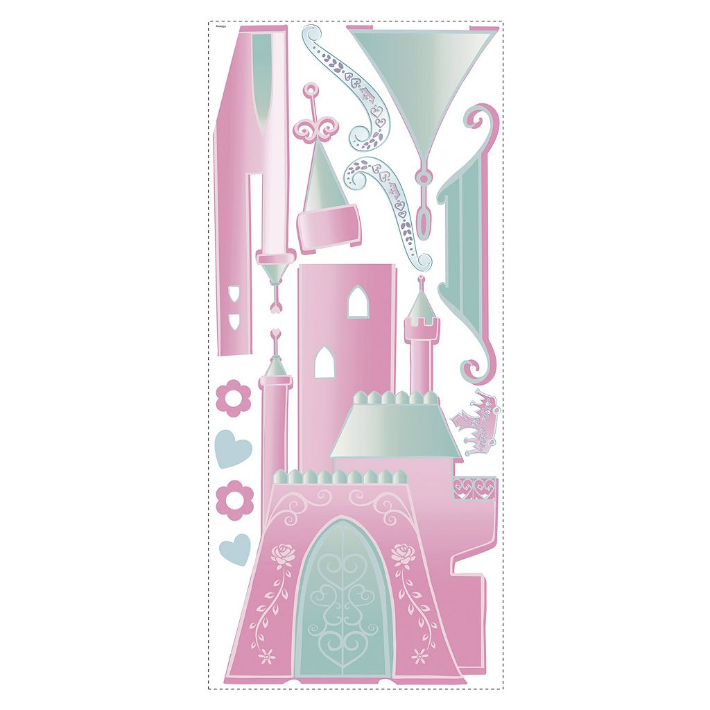 Disney Princess Personalized Castle Peel & Stick Wall Stickers