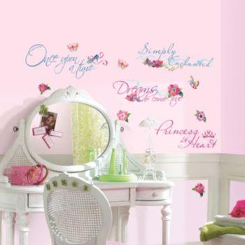 Disney Princess Quotes Peel & Stick Wall Stickers