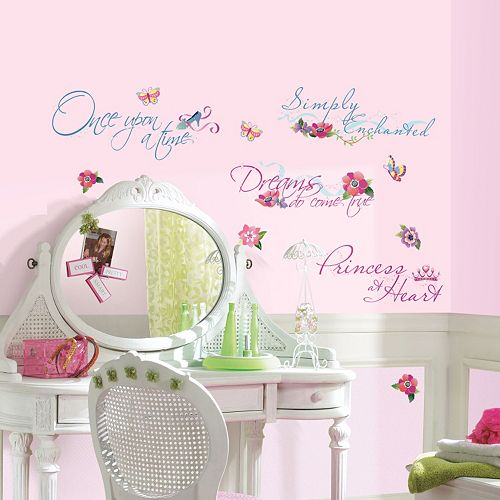 Disney Princess Quotes Peel & Stick Wall Stickers