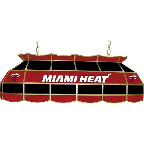 "Miami Heat 40"" Tiffany-Style Lamp"