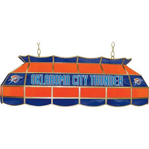 """Oklahoma City Thunder 40"""" Tiffany-Style Lamp"""