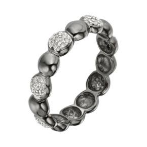 Black Rhodium-Plated Sterling Silver 1/7-ct. T.W. Diamond Ring