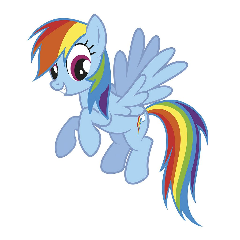 My Little Pony Rainbow Dash Peel and Stick Wall Stickers