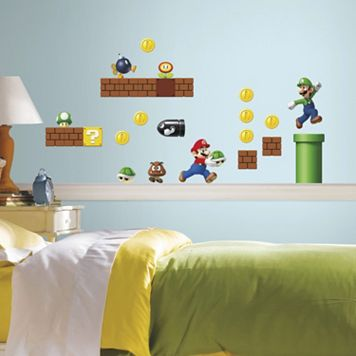 Nintendo Super Mario Peel & Stick Wall Stickers