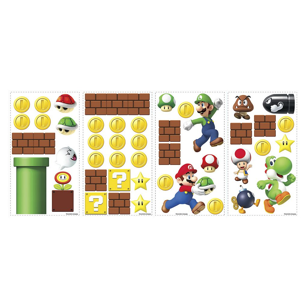 Nintendo Super Mario Peel and Stick Wall Stickers