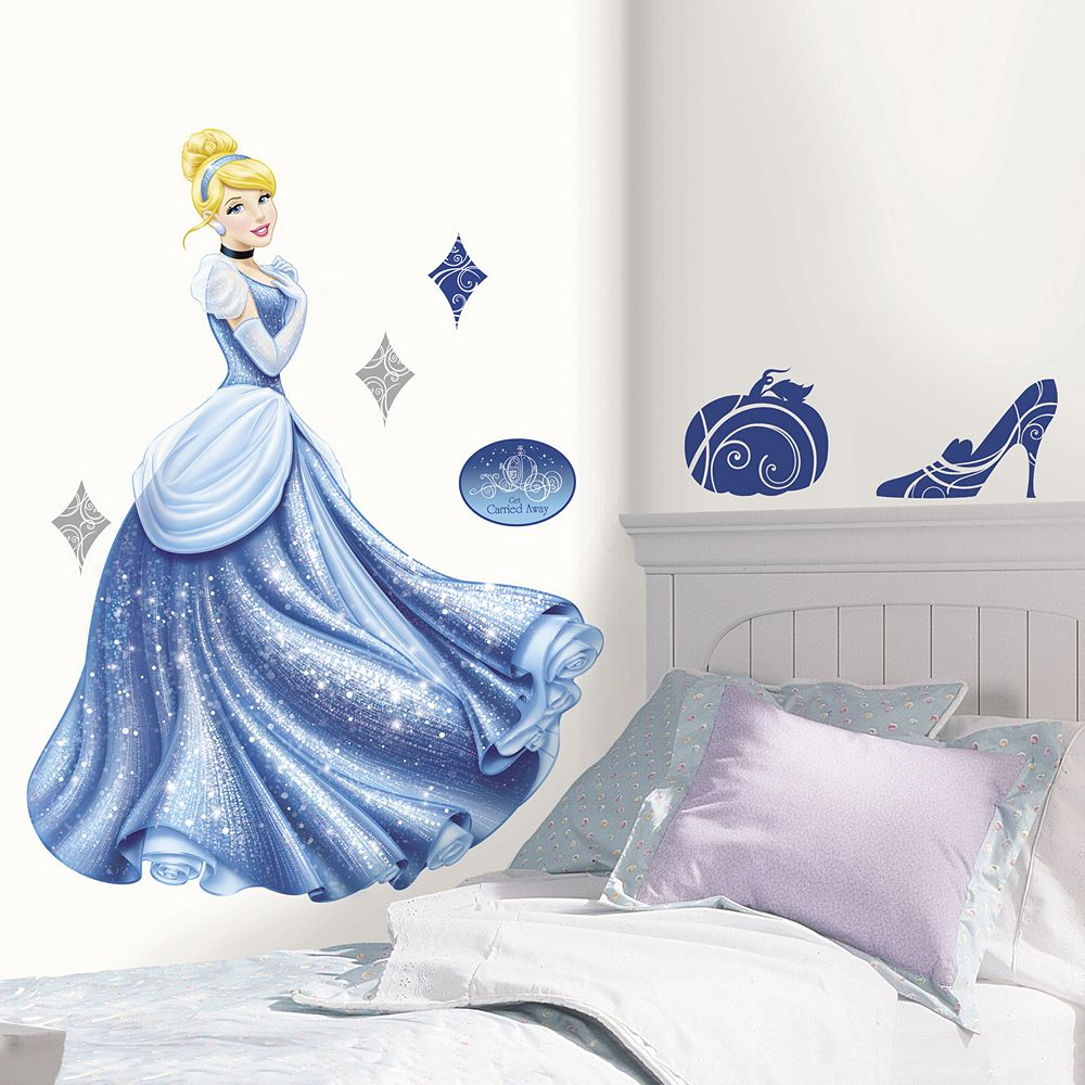 Disney Princess Cinderella Glamour Giant Peel & Stick Wall Stickers