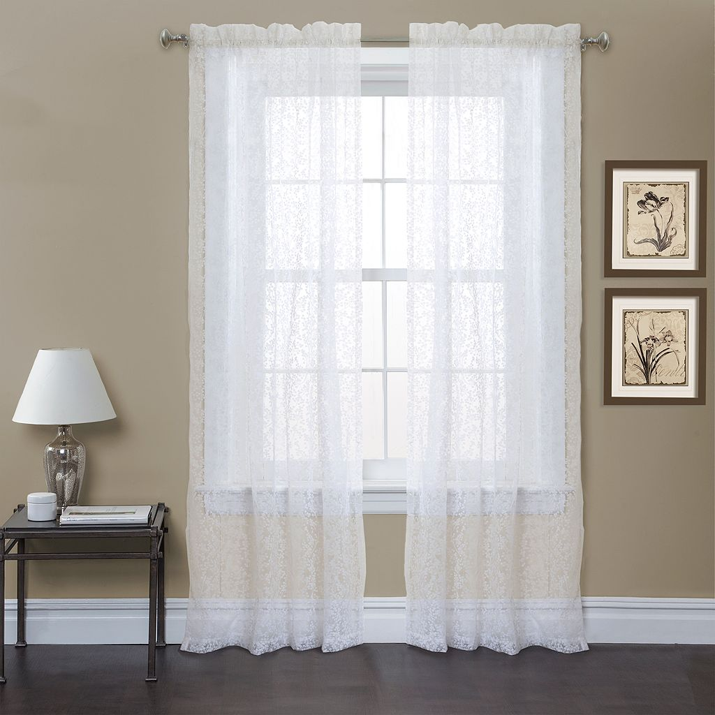 Lush Decor 2-pack Duke Garden Window Curtains - 54