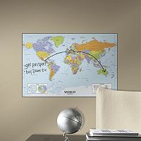 Dry Erase World Map Wall Sticker
