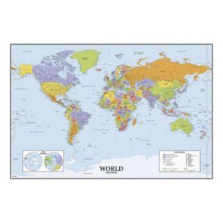Dry Erase World Map Wall Sticker