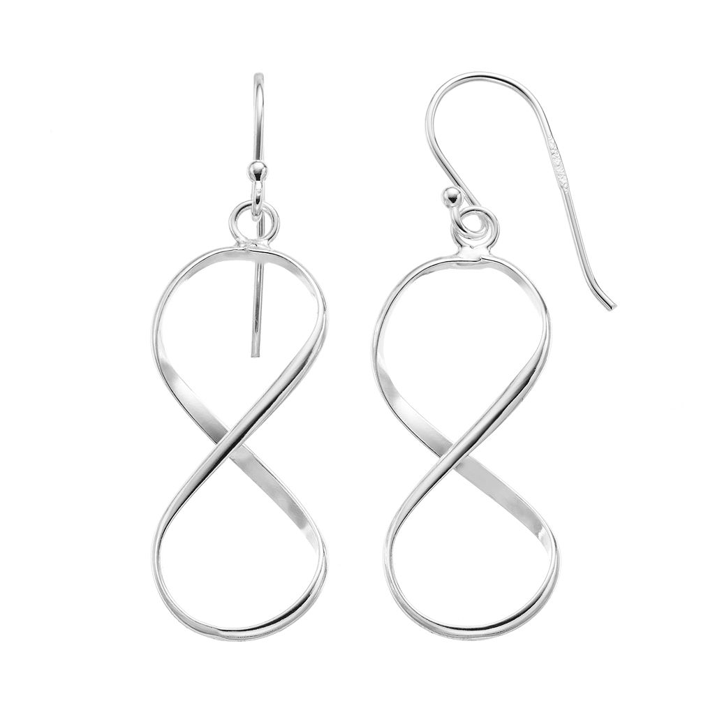 Sterling Silver Infinity Drop Earrings