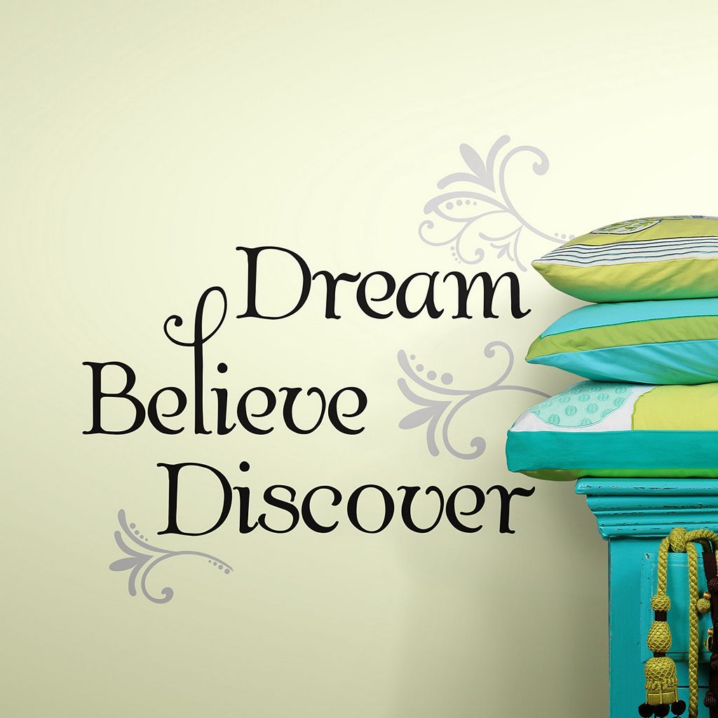'Dream, Believe, Discover'' Peel & Stick Wall Stickers