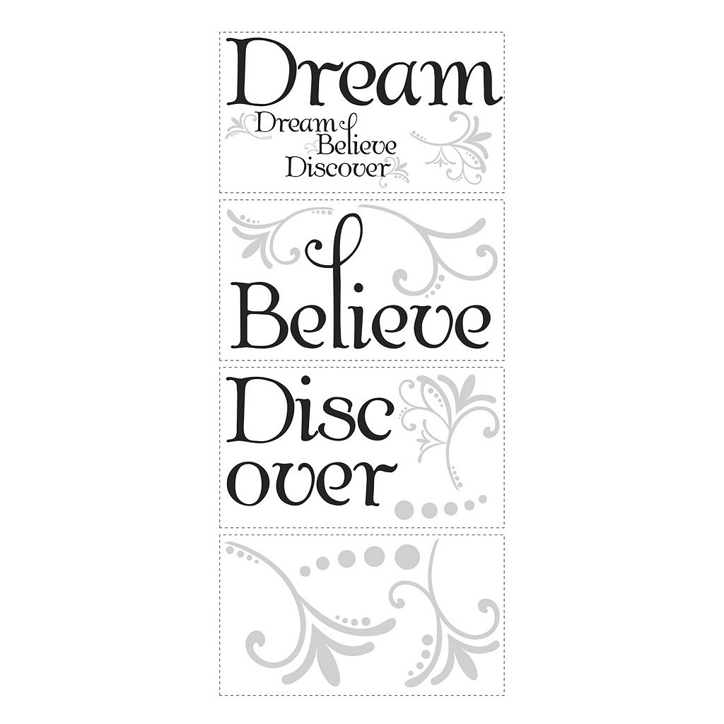 Dream, Believe, Discover Peel & Stick Wall Stickers