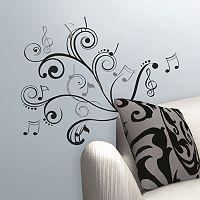 Music Note Scroll Peel & Stick Wall Stickers