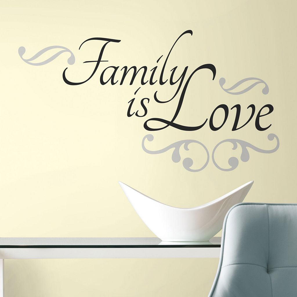 'Family is Love'' Peel & Stick Wall Stickers