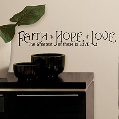 Faith, Hope, Love'' Peel & Stick Wall Stickers
