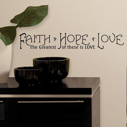 Faith, Hope, Love'' Peel & Stick Wall Stickers