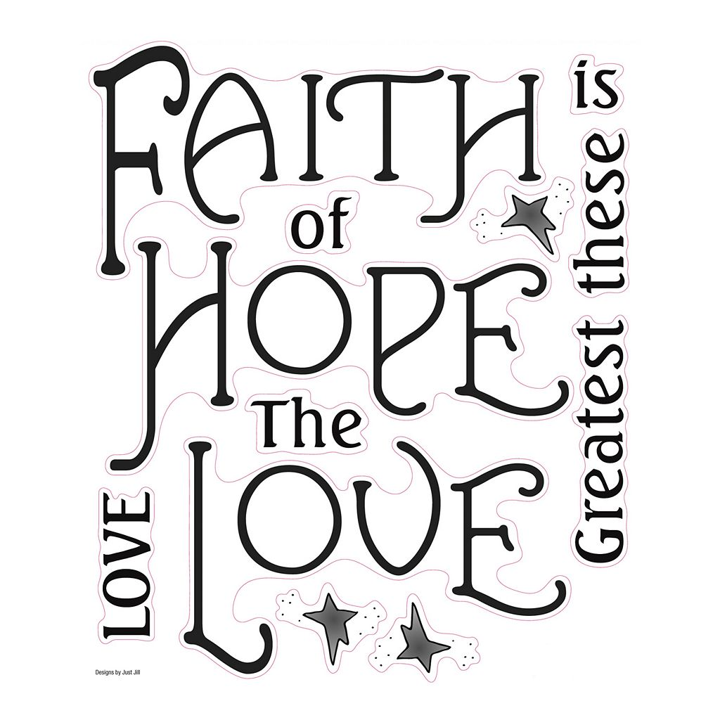 Faith, Hope, Love'' Peel and Stick Wall Stickers