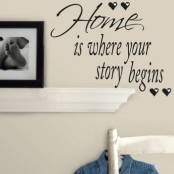 Home'' Peel and Stick Wall Stickers