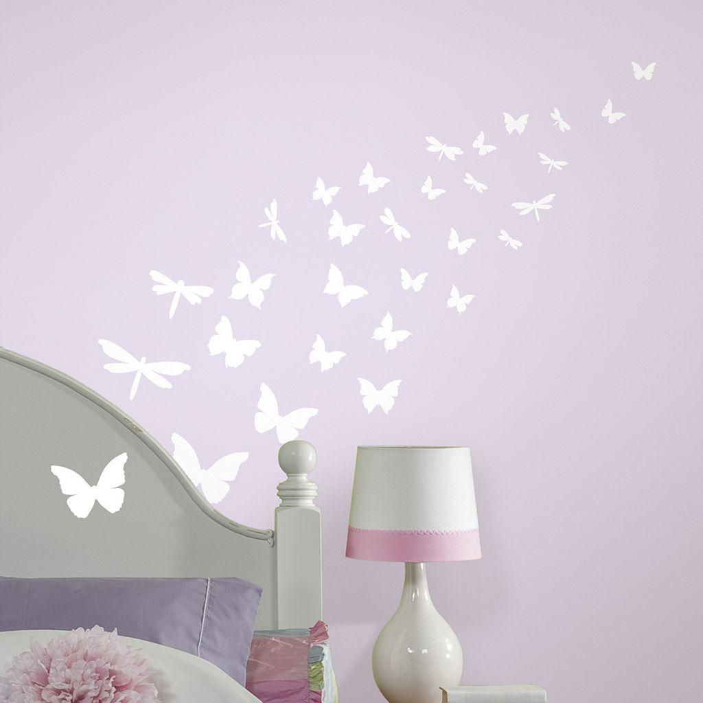 Butterflies & Dragonflies Glow-in-the-Dark Wall Stickers
