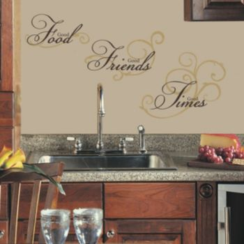 Good Food, Good Friends, Good Times'' Peel and Stick Wall Stickers