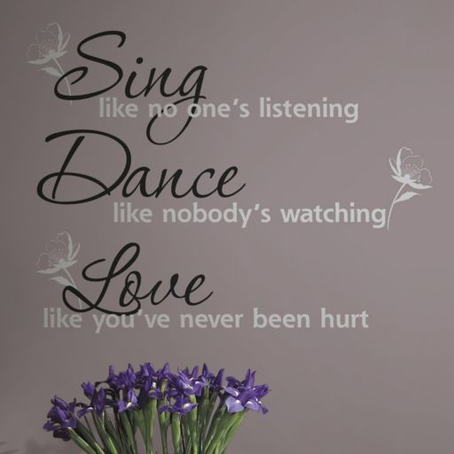 'Dance, Sing, Love'' Peel and Stick Wall Stickers