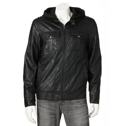 b37ef4e42 Helix™ Hooded Faux-Leather Jacket - Men