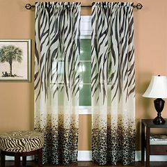 Kenya 1-Panel Semi-Sheer Window Panel - 50'' x 63''